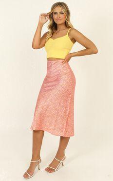 Gabby Skirt In Orange Print