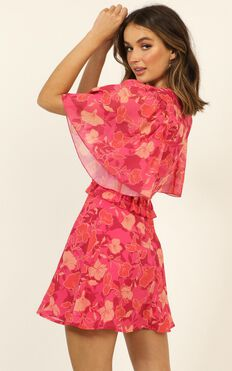 Seeing Colours Dress In Berry Floral