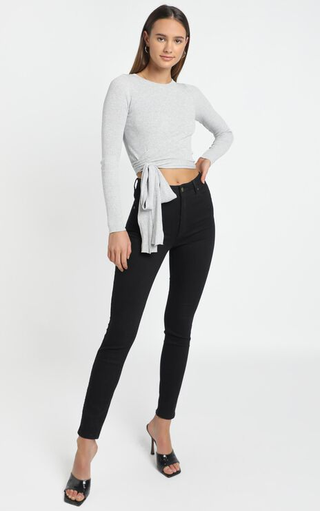 Malik Knit Top in Grey