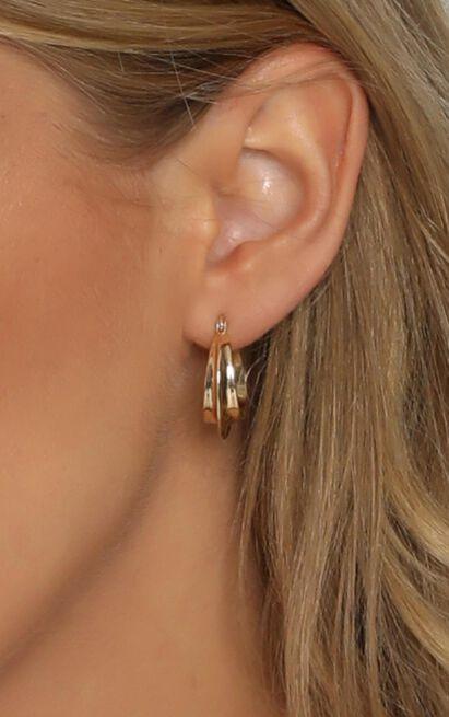 Celia Hoop Earrings in Gold, , hi-res image number null