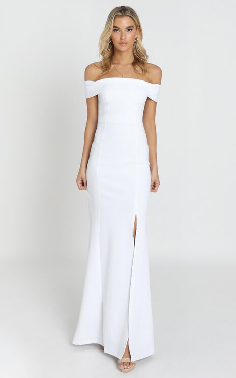 We Got This Feeling Dress In White