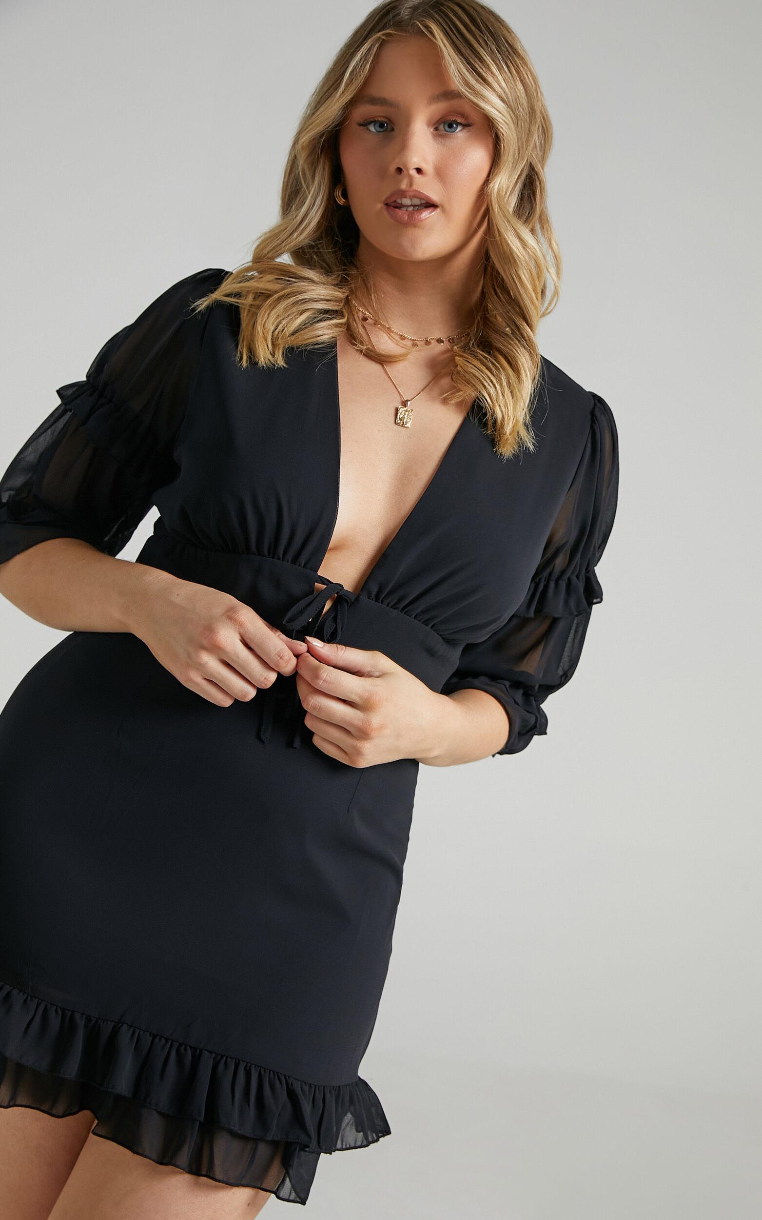 Tabby Dress in Black - 06, BLK1, super-hi-res image number null