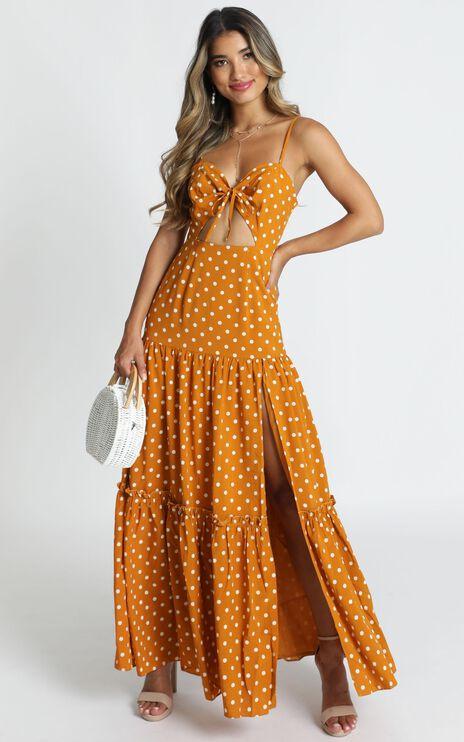 Spot Me If You Wish Dress in Mustard Spot