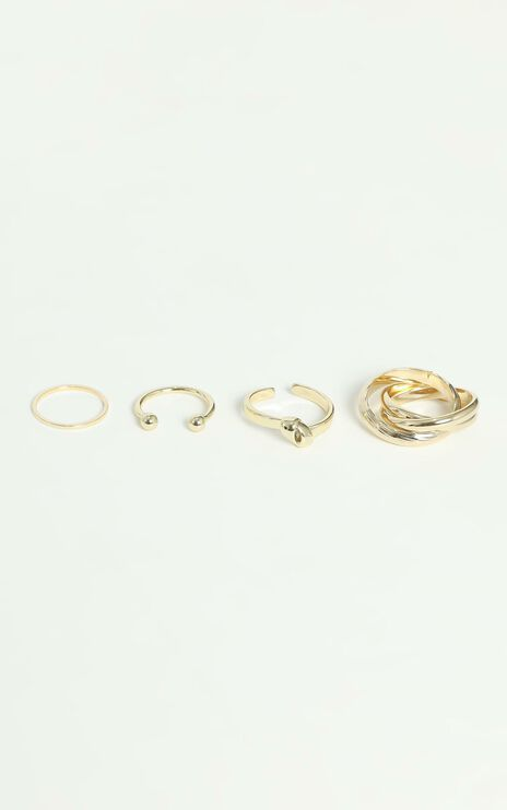Clancy Multi Ring Set in Gold