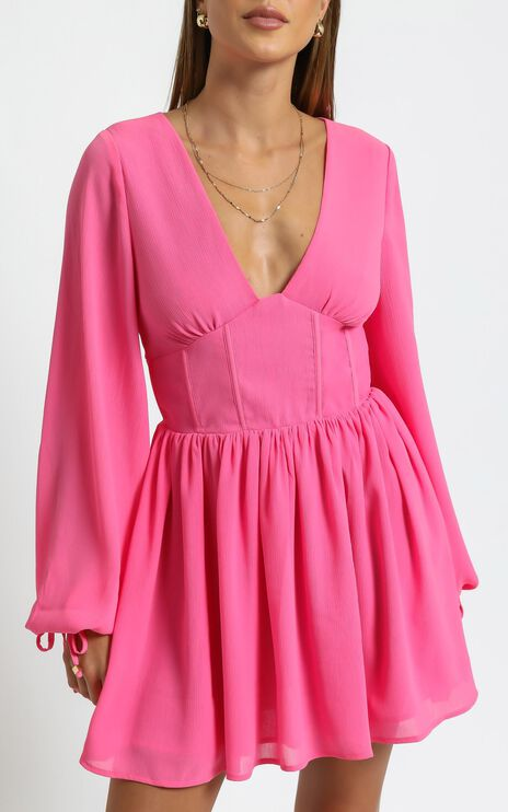 Calista Dress in Pink