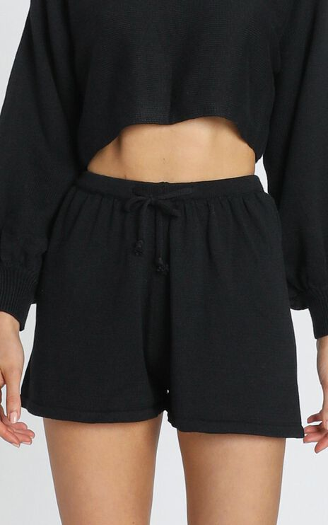 Hartley Knitted Shorts in Black