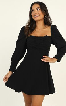 Parisian Picnic Dress In Black