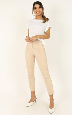 Hit The Ground Running Pants In Beige