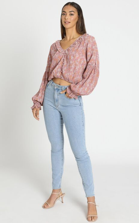 Serena Top in Pink Floral