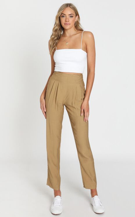 Only Desire Pants in Camel