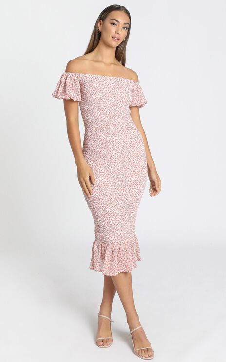 Daphne Dress in Pink Floral