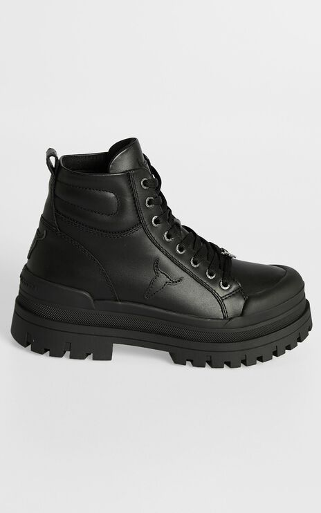 Windsor Smith - Disaster Boots in Black Leather