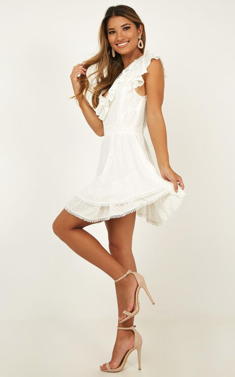 Fly North Dress In White