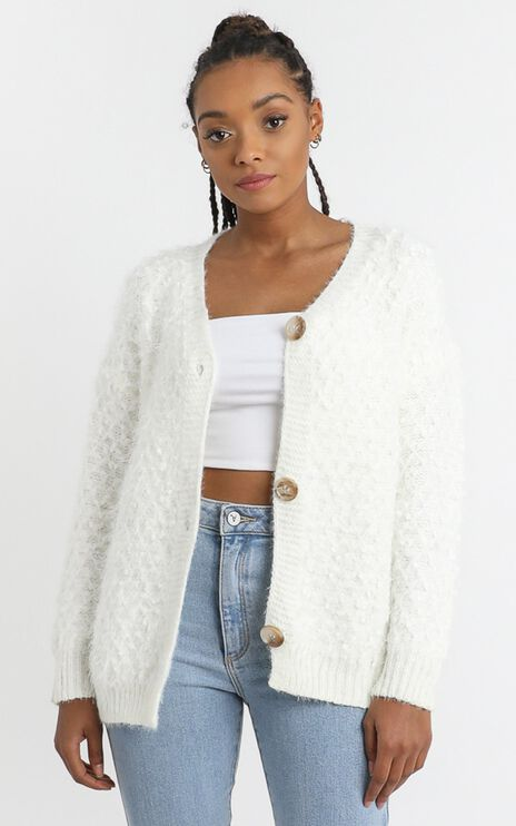 Axel Cardigan in White