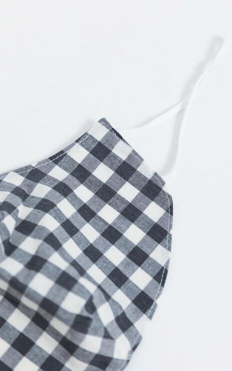 Face Mask in Black Gingham