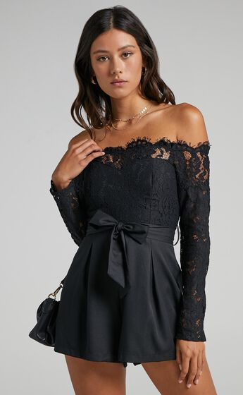 Since Youve Been Gone Playsuit in Black