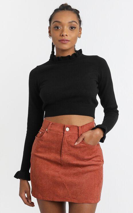Aisha Skirt in Rust Corduroy