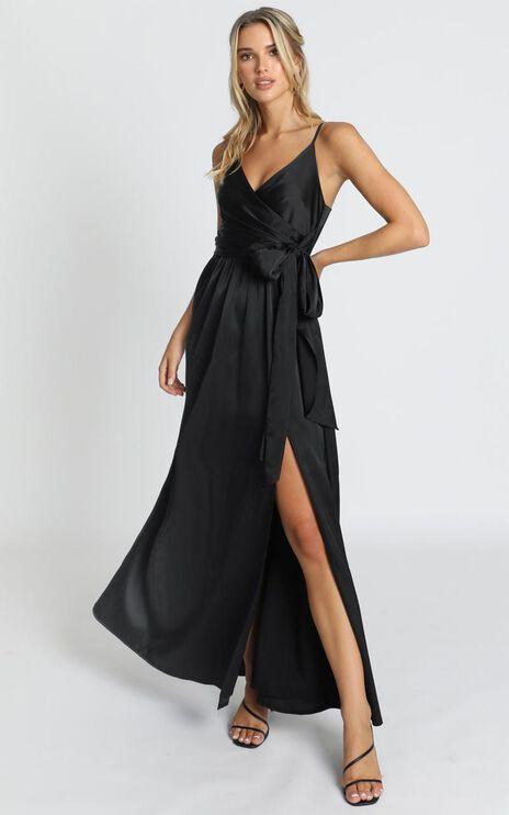 Revolve Around Me Dress In Black