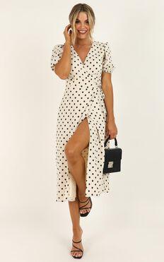 Taking Shortcuts Dress In Cream Spot