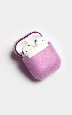 Sweet Song Glitter Airpod Case In Purple