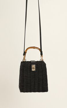 Sunset Lover Bag In Black And Bamboo