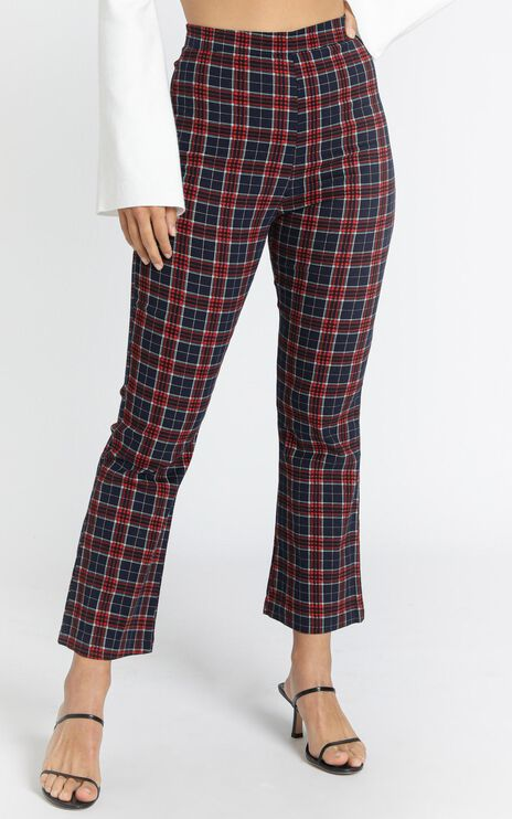 Donovan Pants in Navy Check