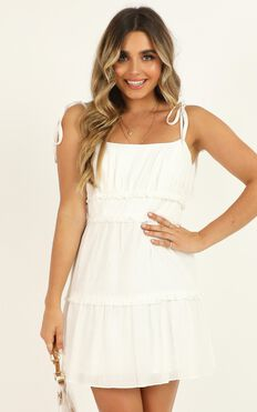 Hot Summer Days Dress In White