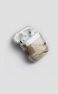 Airpods Pro Cover In Tan Marble