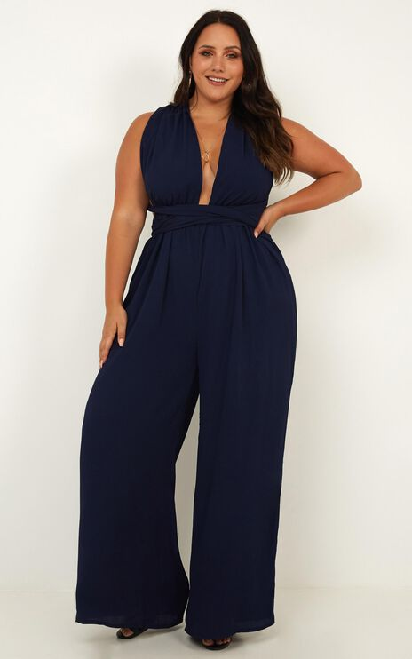 Girls Life Jumpsuit In Navy