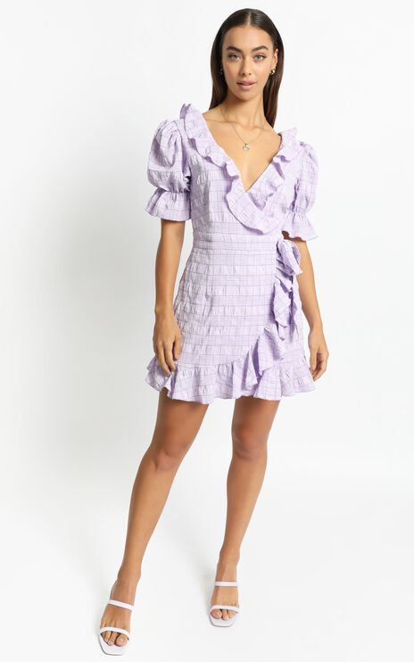 Cora Dress in Lilac Check