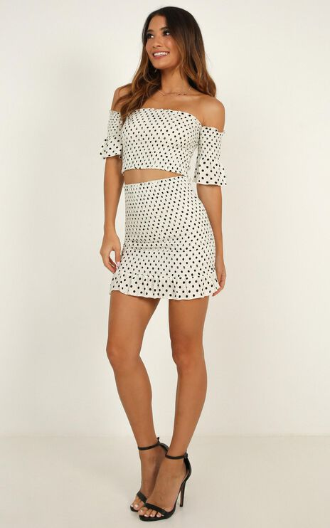 Little Distant Two Piece Set In White Spot
