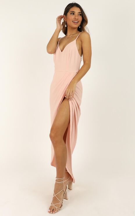 Lucky Day Maxi Dress in Blush