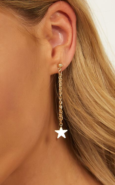 Coming Undone Earrings In Gold