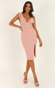 Dont Catch Feelings Dress In Blush