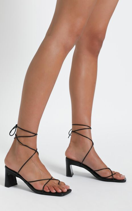 Alias Mae - Lune Heel in Black Kid Leather