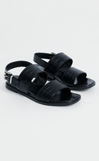 Therapy - Sparrow Sandals in Black Croc