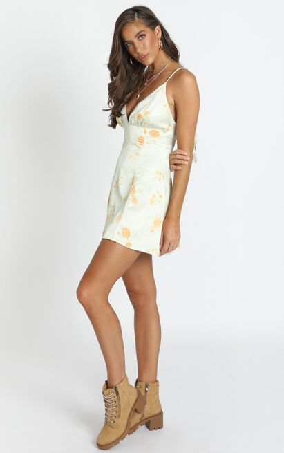 Now Im In It Dress in yellow floral - 14 (XL), Yellow, hi-res image number null