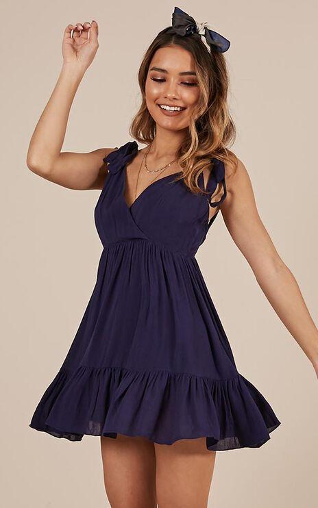 Amalfi Swing Dress In Navy