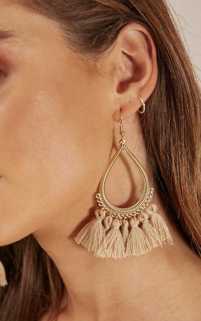 Above The Clouds earrings in taupe, , hi-res image number null