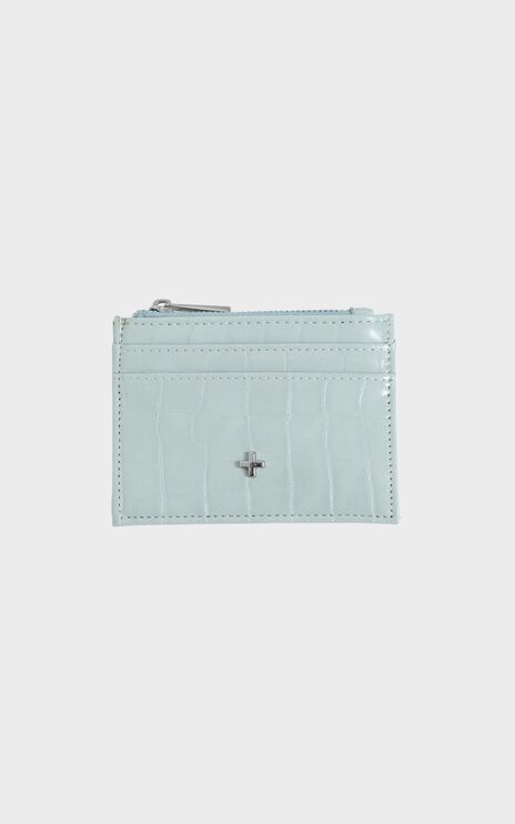 Peta and Jain - Ivy Card Holder in Mint Croc