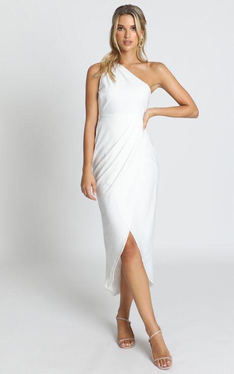 Felt So Happy Dress In White