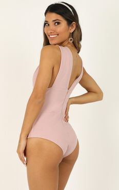What You Want Bodysuit In Blush