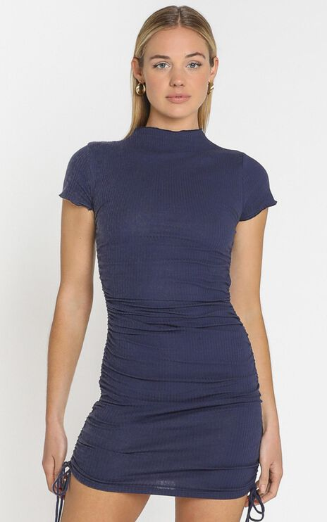 Dalia Dress in Navy