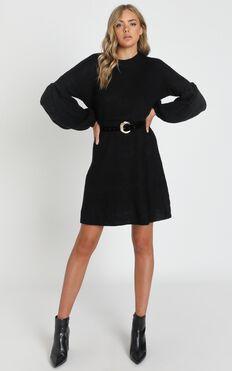Fearless Now Knit Dress in Black