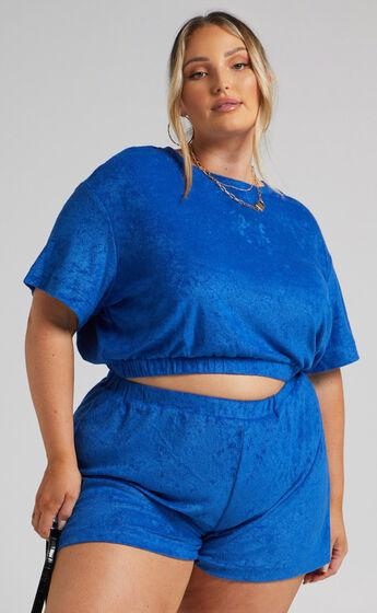 Giada Elasticated Shorts in Blue