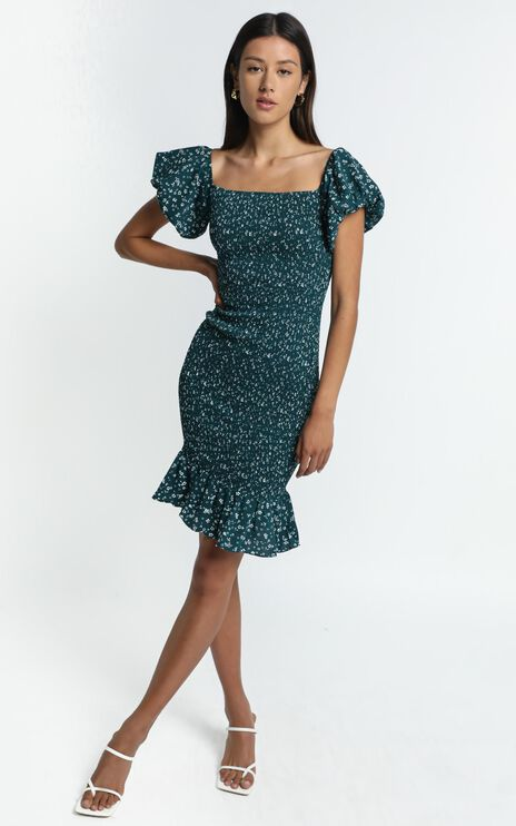 Margaux Dress in Emerald