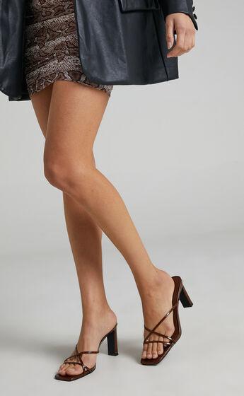 Billini - Oakly Heels in Espresso Croc