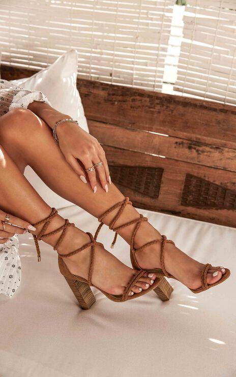 Showpo X Billini - Burano Heels In Chestnut Micro