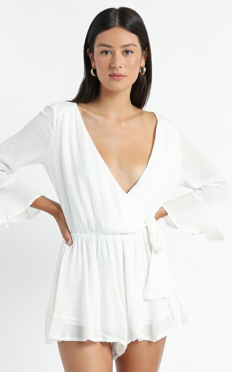 Sunday Breeze Playsuit In White