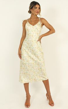I Need Your Love Dress In Cream Floral